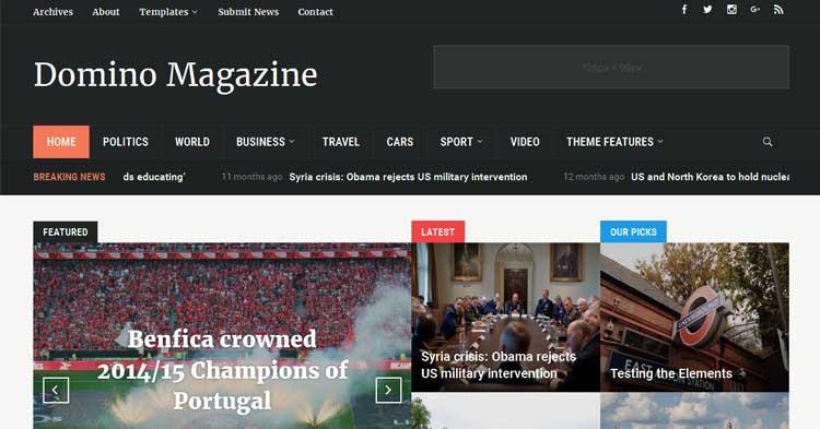 Domino News Magazine Theme