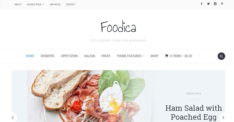 Download Foodica Food Recipe Theme now!